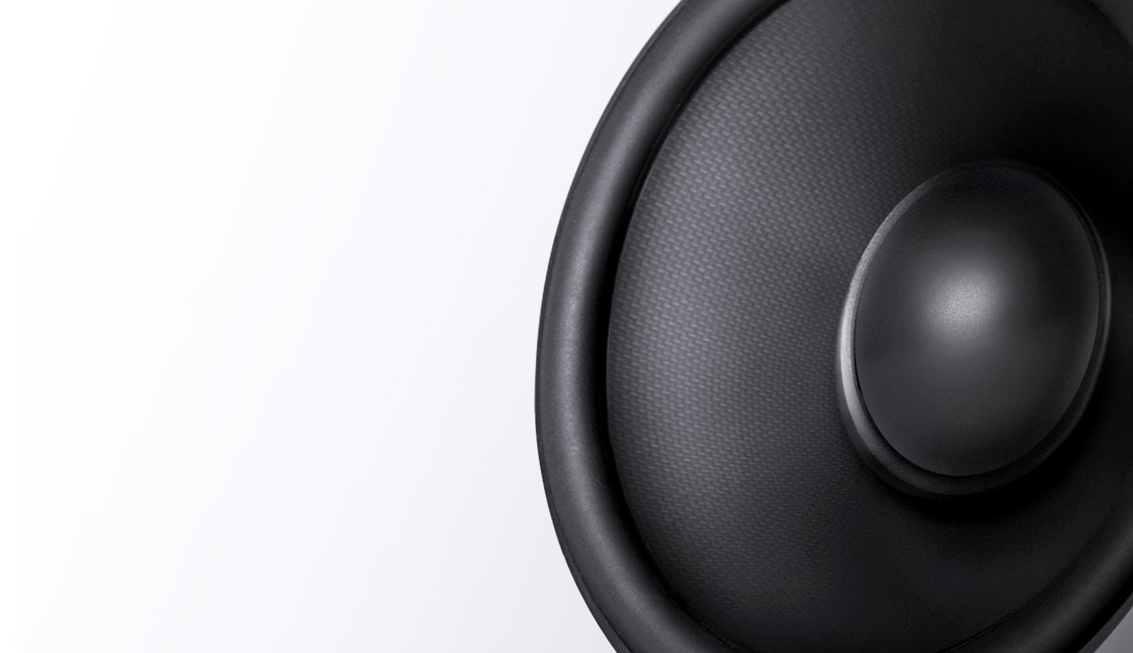Very close up woofer that is maden carbon