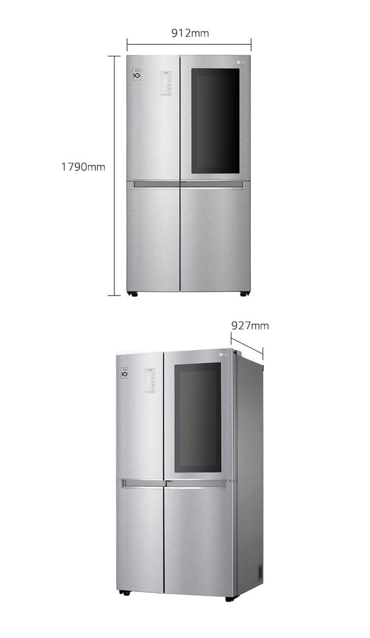 إل جي ثلاجة باب جانب باب، 28.1 قدم، إستيل