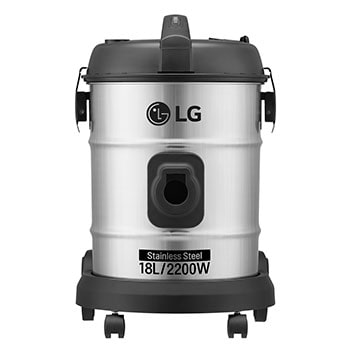18 Liter Dust capacity POT Type Vacuum, STS Color, 2200W, Dust Indicator, 9m Cord Length1