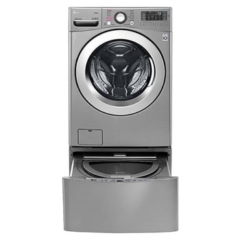 16kg Main Washer with 10kg Dryer +3.5Kg Mini Washer (Twin Wash Washing Machine) Silver Color, Smart ThinQ (Wi-Fi), True Steam, Turbo Dry1