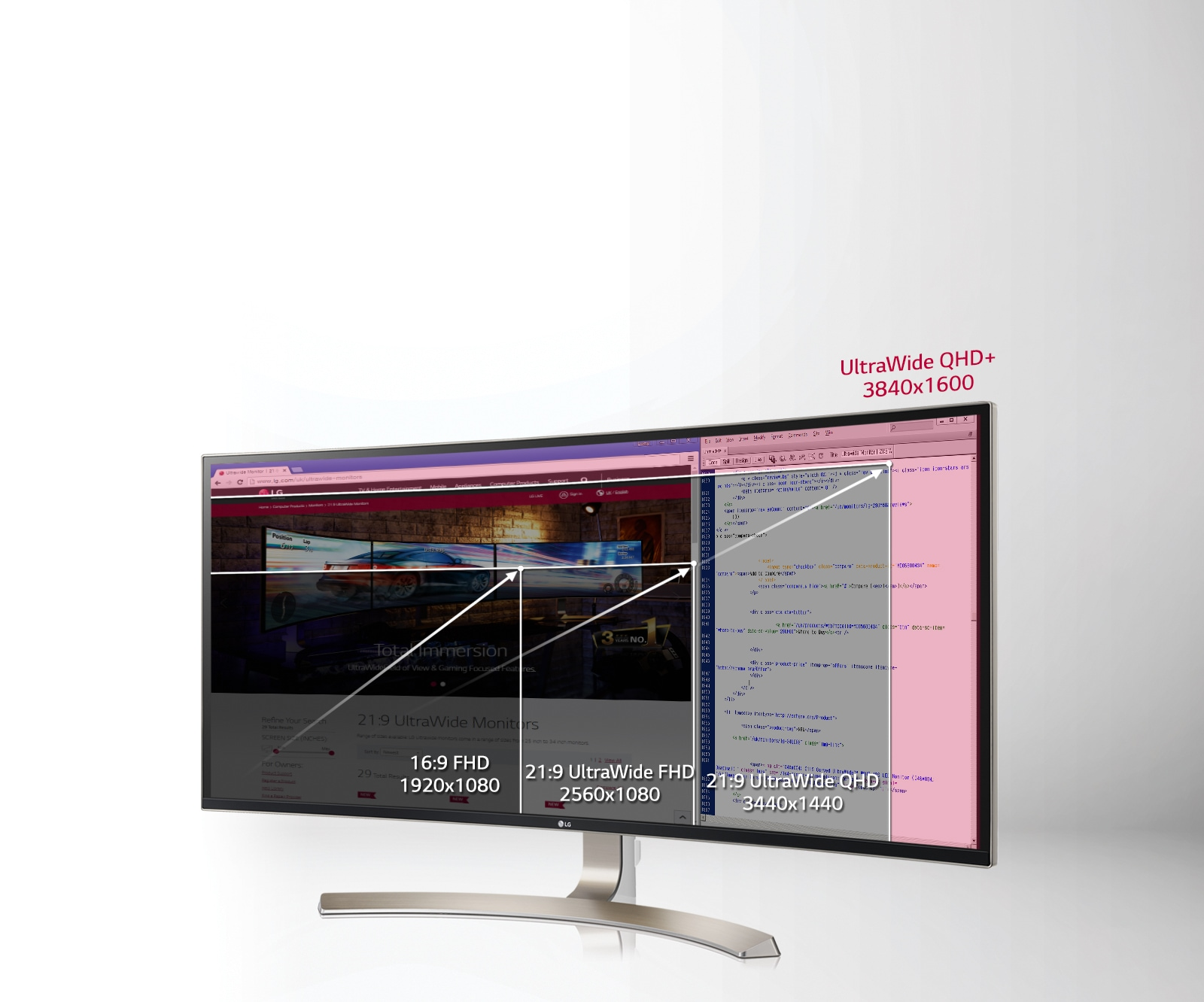 Time-Saving Multi-tasking on 3840 x 1600 QHD+