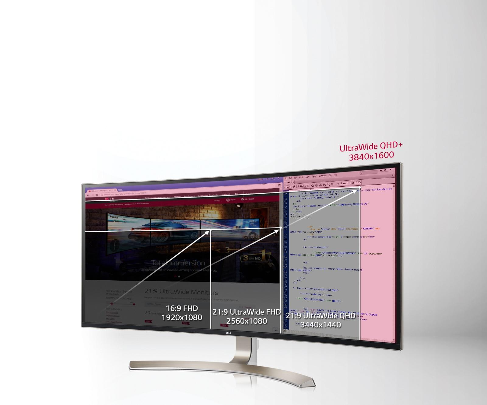 Time-Saving Multi-tasking on 3840 x 1600 QHD+