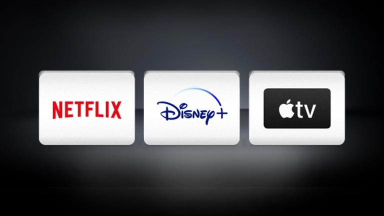 The Netflix and the Apple TV logo are arranged in the black background.