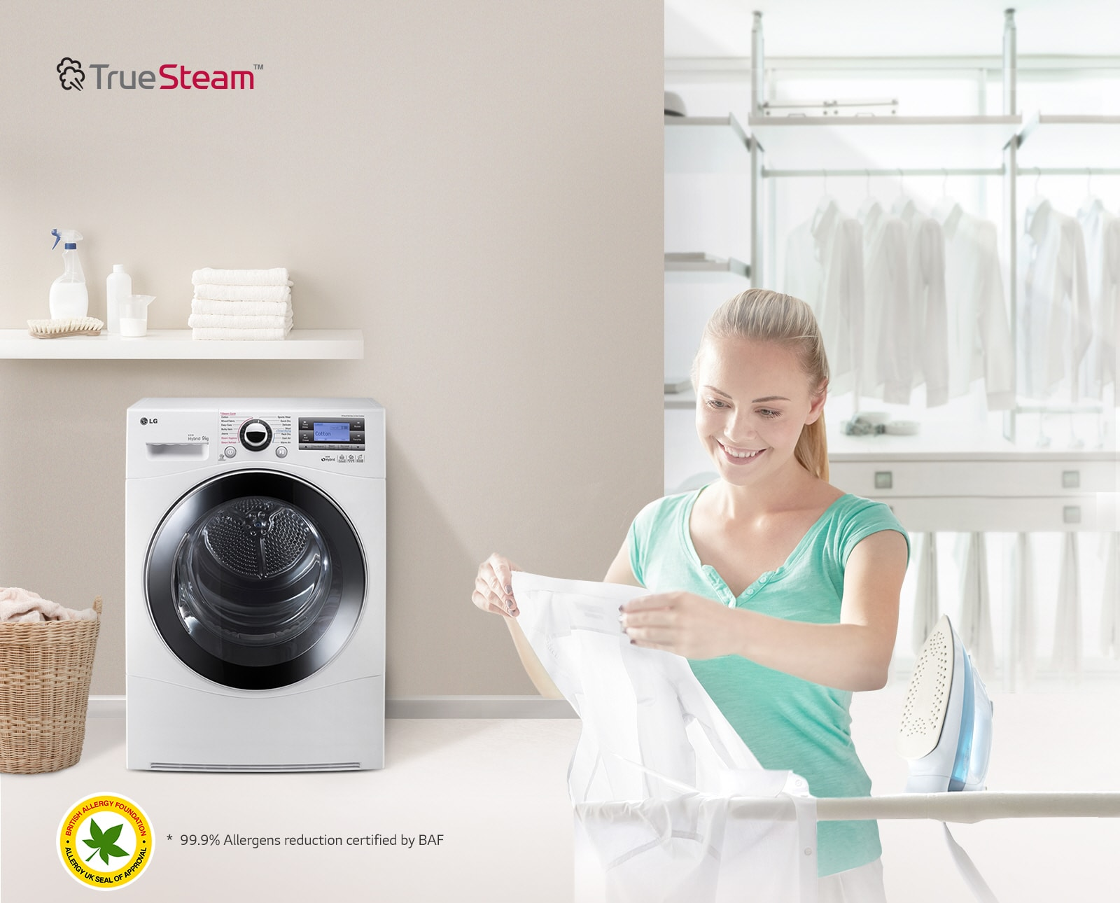 True Steam™ reduces wrinkles to save you time when ironing