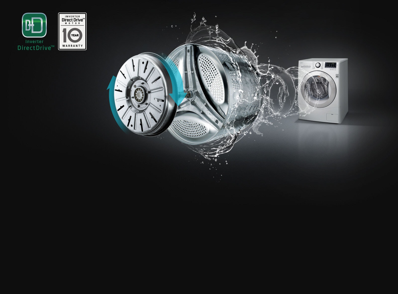 LG 7kg, 6 Motion Inverter Direct Drive Front Load Washing Machine