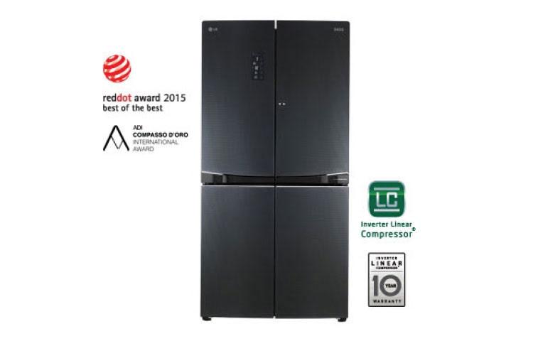 lg refrigerators gf d6011lb 1 - Black Glass