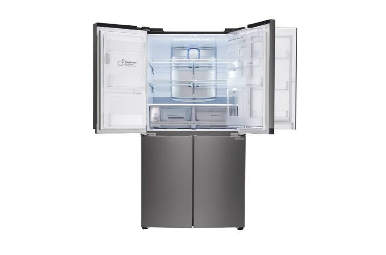 lg 716l diamond black side by side refrigerator lg electronics sg. Black Bedroom Furniture Sets. Home Design Ideas