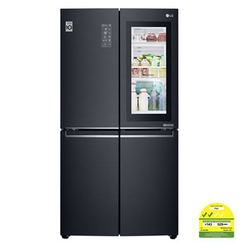 601L side-by-side-fridge with InstaView Door-in-Door™ in Matt Black1