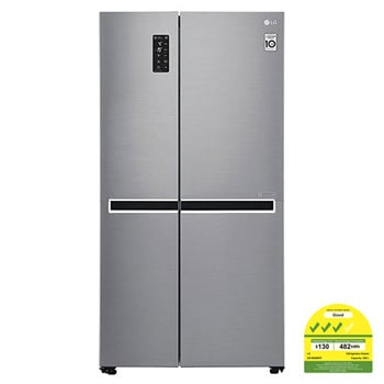 626L side-by-side-fridge with Linear Inverter Compressor in Platinum Silver1