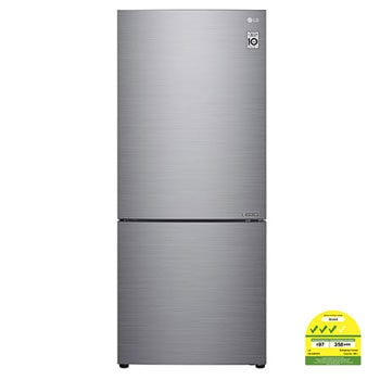 408L Bottom Freezer Refrigerators with Inverter Linear Compressor in Platinum Silver1