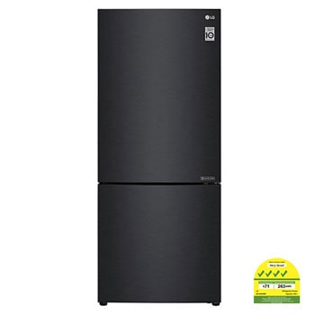 408L Bottom Freezer Refrigerators with Inverter Linear Compressor in Matt Black1