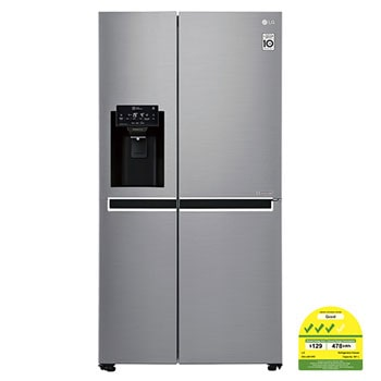 601L side-by-side-fridge with Inverter Linear Compressor in Platinum Silver1