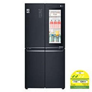 464L side-by-side-fridge with InstaView Door-in-Door™ in Matt Black1