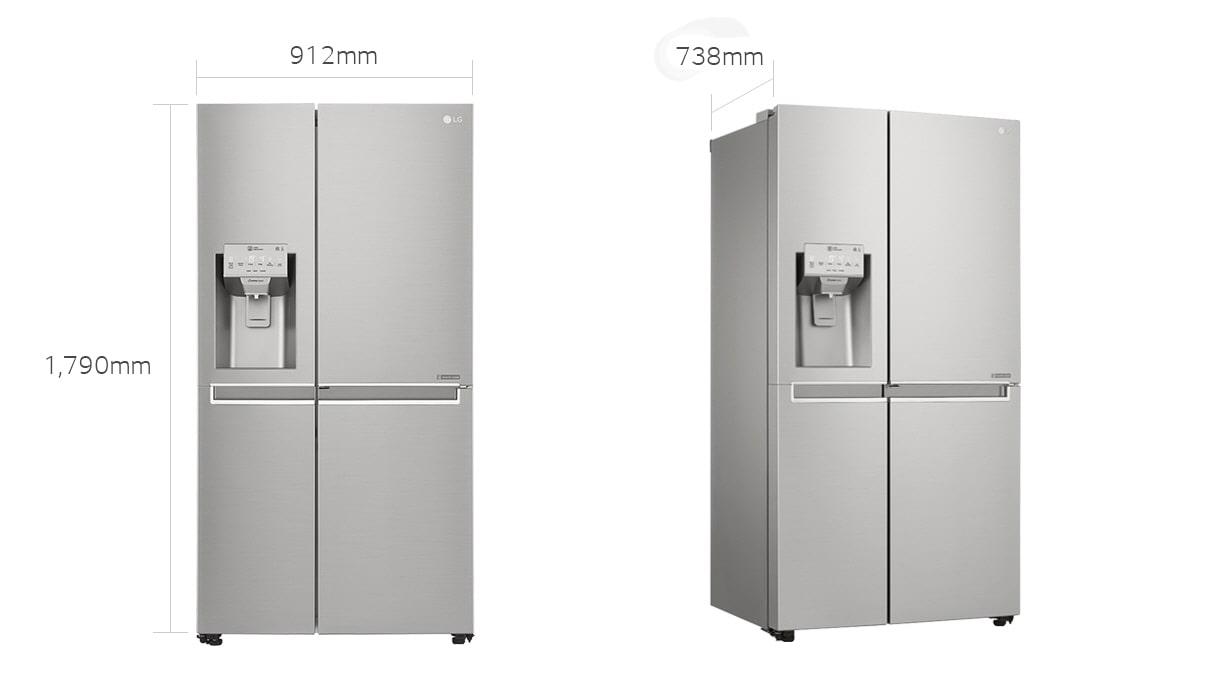Lg Refrigerator 601l Platinum Silver 3 Side By Side