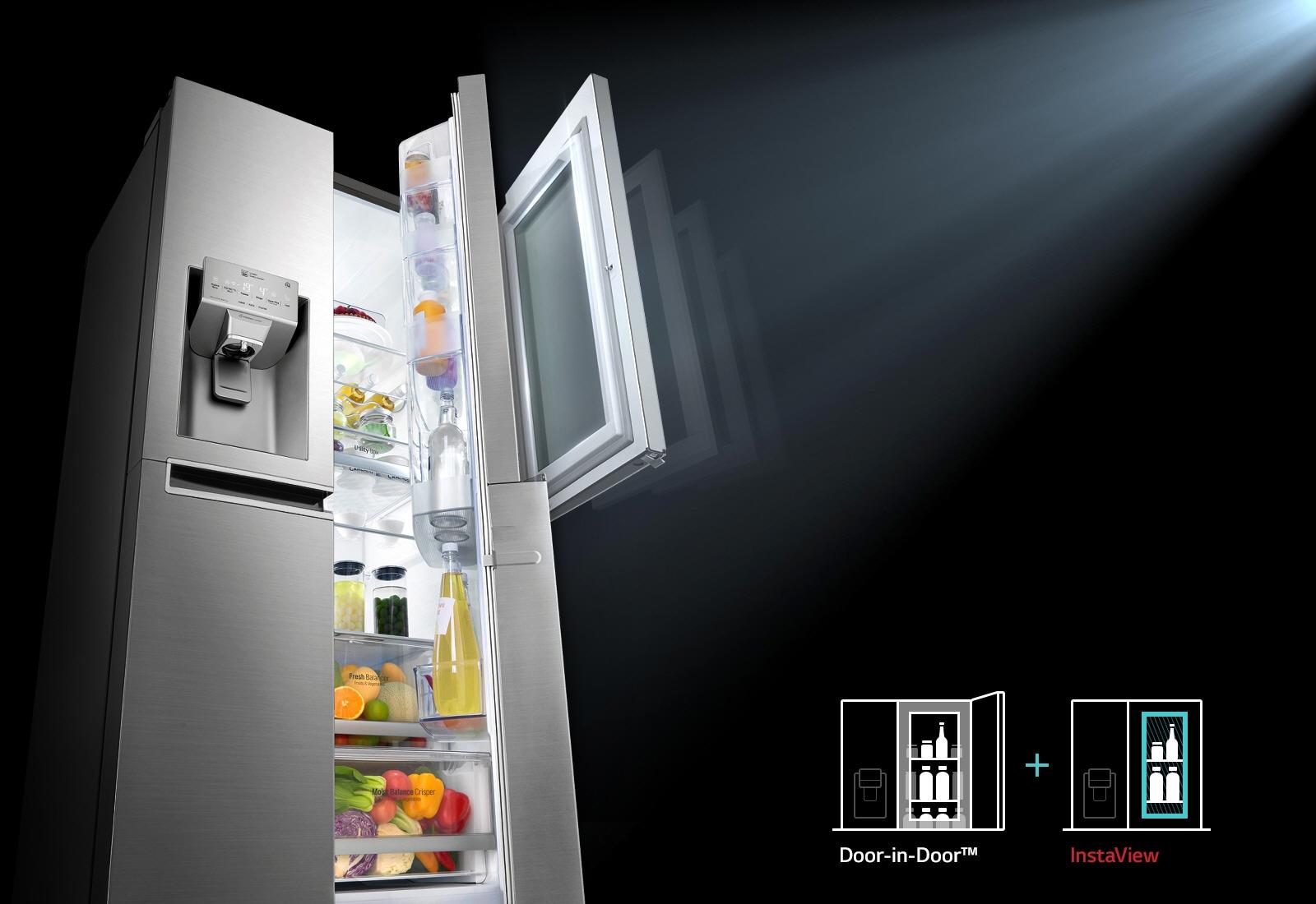 ตู้เย็น InstaView Door-in-Door™ นวัตกรรมบานประตูแบบใหม่