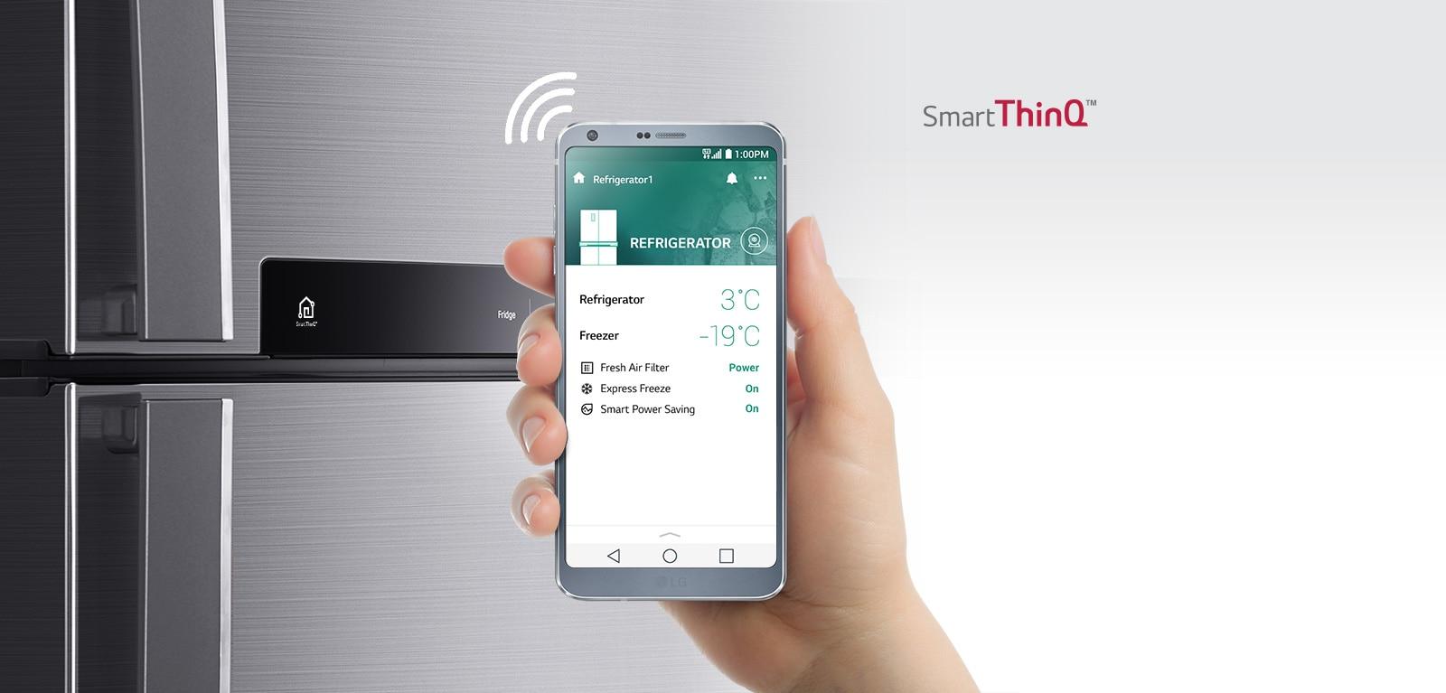 ควบคุมตู้เย็นด้วยแอพพลิเคชั่น Smart ThinQ