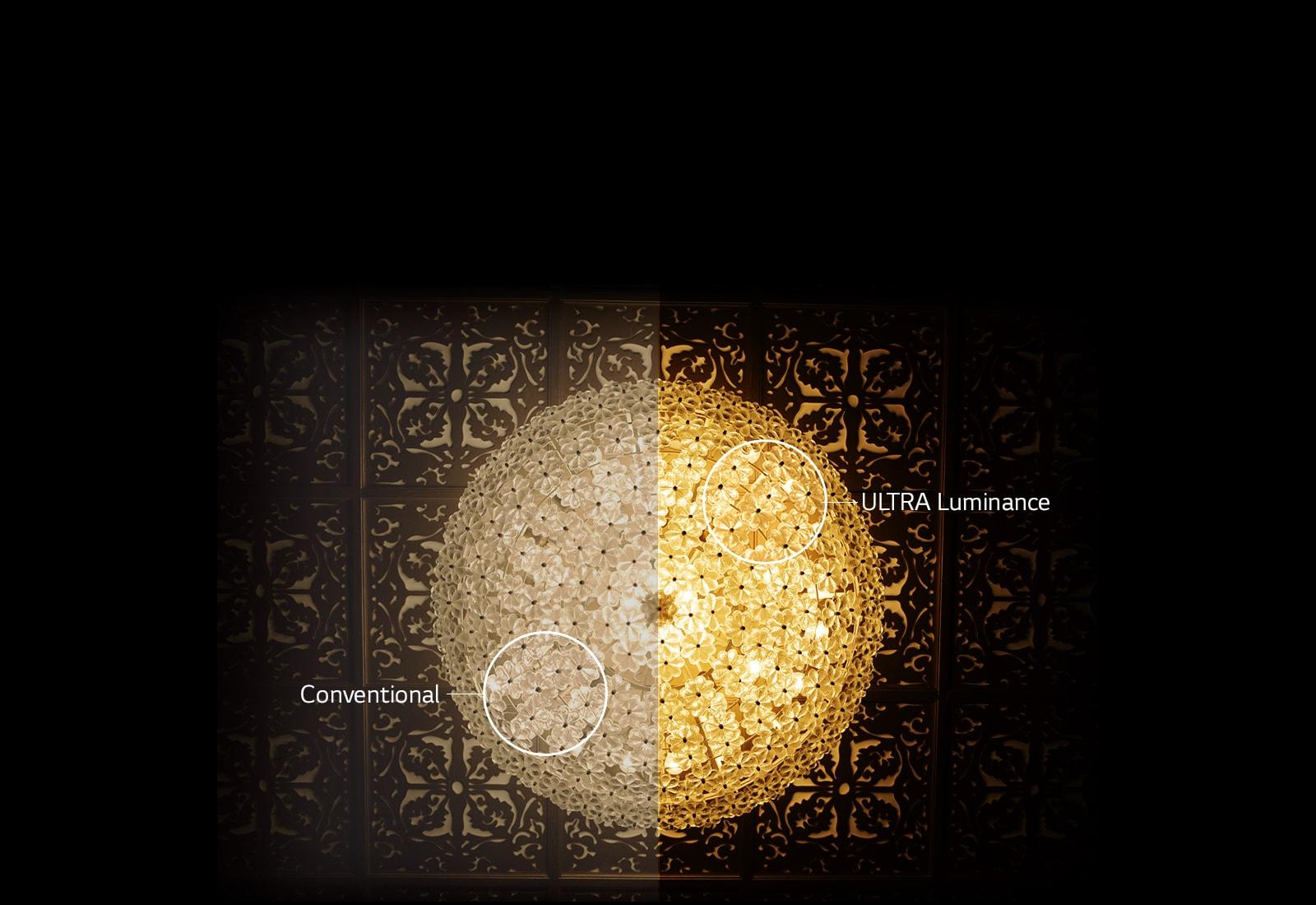 Ultra Luminance ช่วยเพิ่มความสว่างของภาพ จึงแสดงภาพได้คมชัดขึ้น