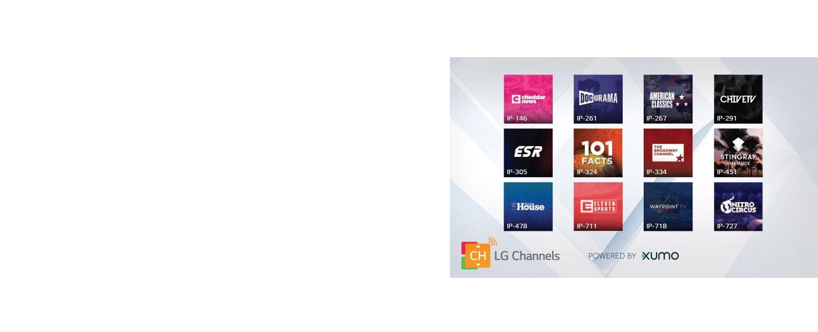 Free channels & on demand video1