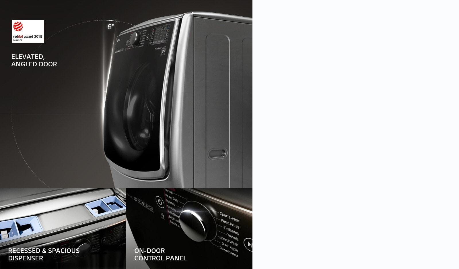 นวัตกรรมใหม่ของการดีไซน์เครื่องซักผ้าฝาหน้า