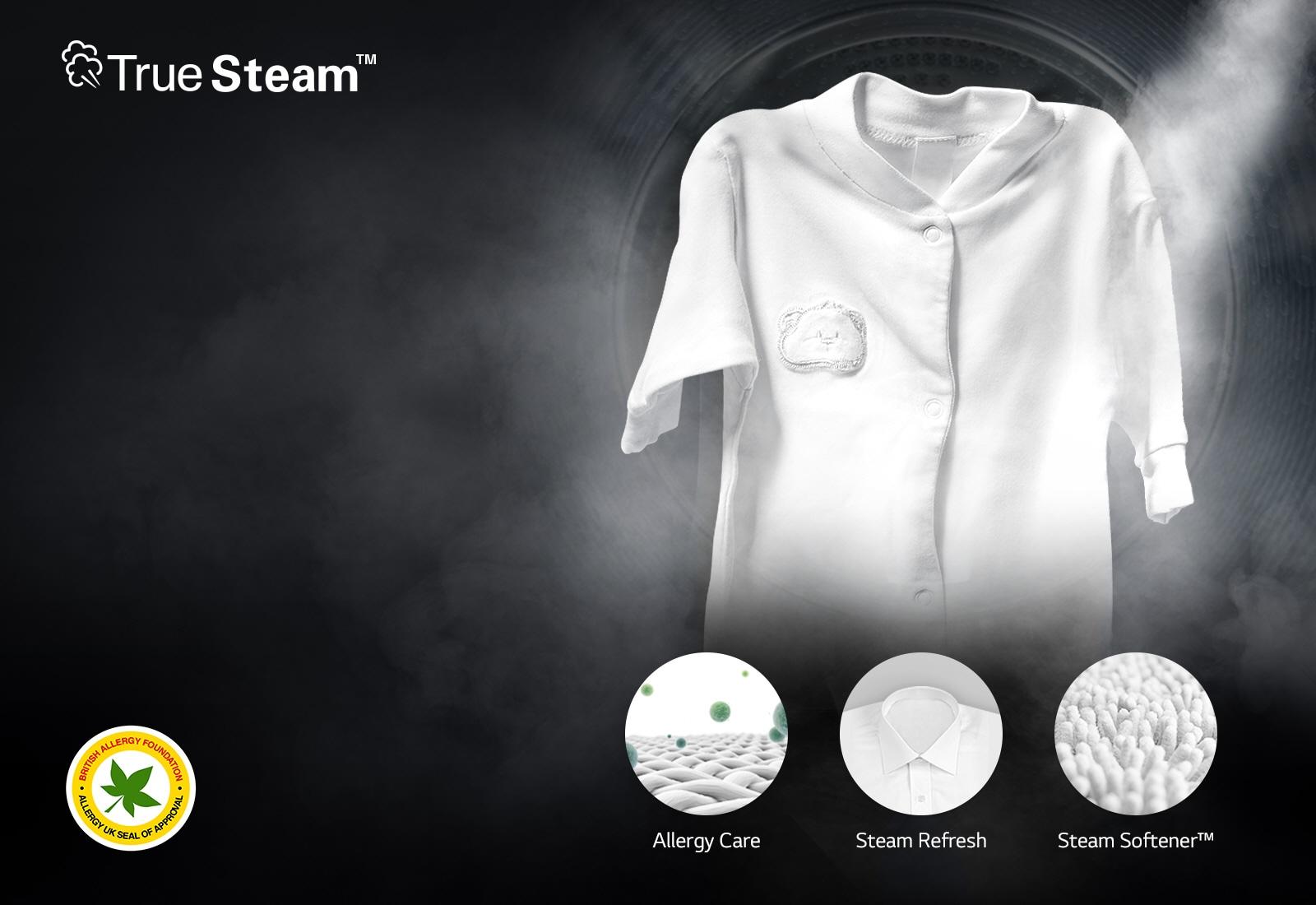 กำจัดสารก่อภูมิแพ้ได้ถึง 99.9%2525252525 ด้วยฟังก์ชั่น Steam