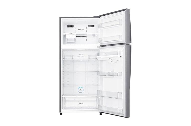 LG Réfrigérateur 2 portes   LINEAR Cooling™   DoorCooling+™   Compresseur linéaire Inverter   HygieneFresh+™   Smart ThinQ™, GN-H702HLHU, thumbnail 3
