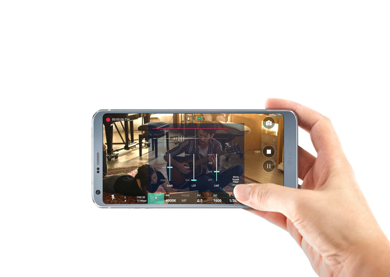 Hi-Fi Kayıt (Video/Ses) LG G6