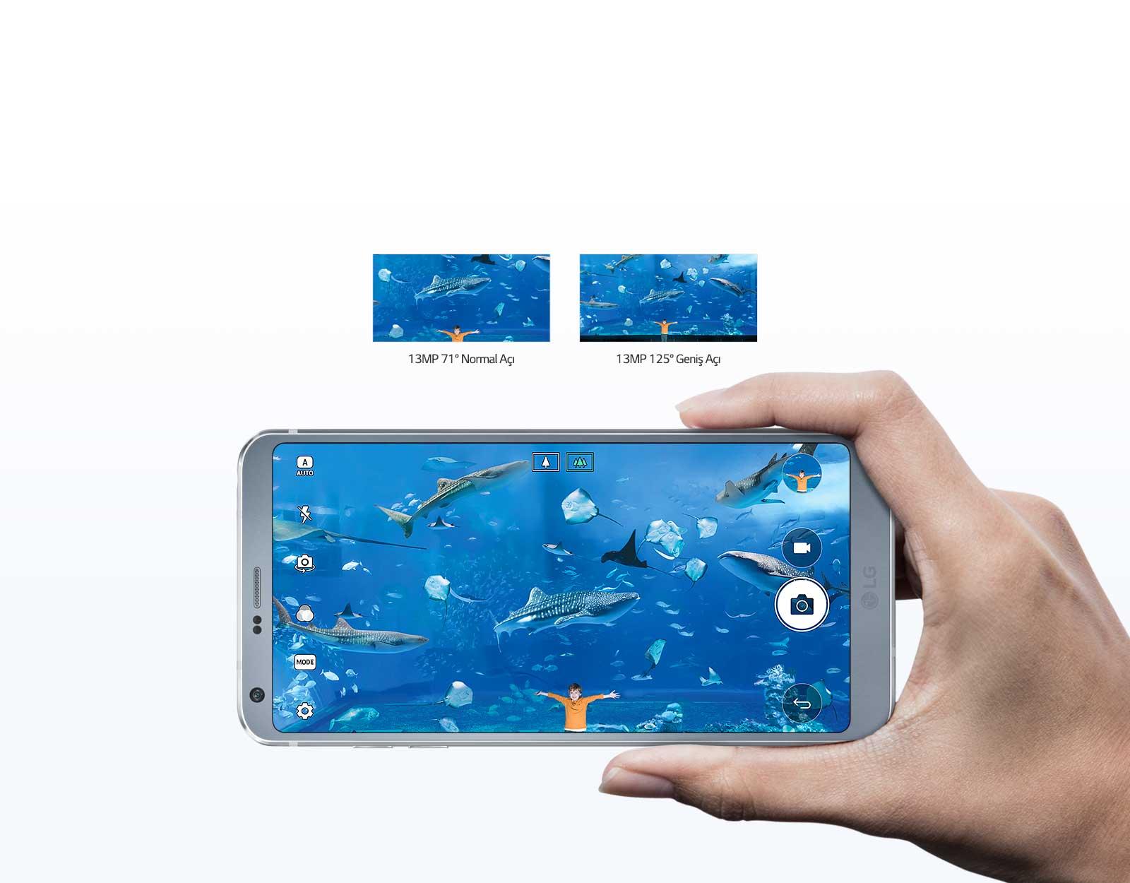 Çift 13MP Arka Kamera LG G6