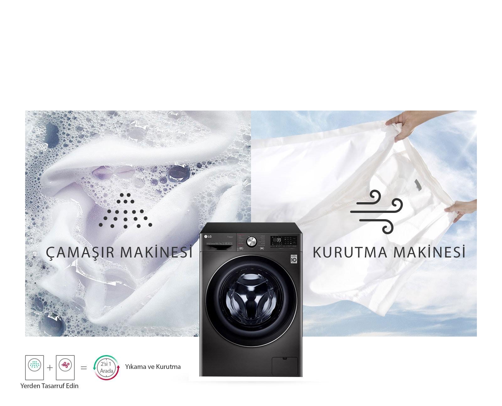 Hem Çamaşır Hem Kurutma Makinesi1