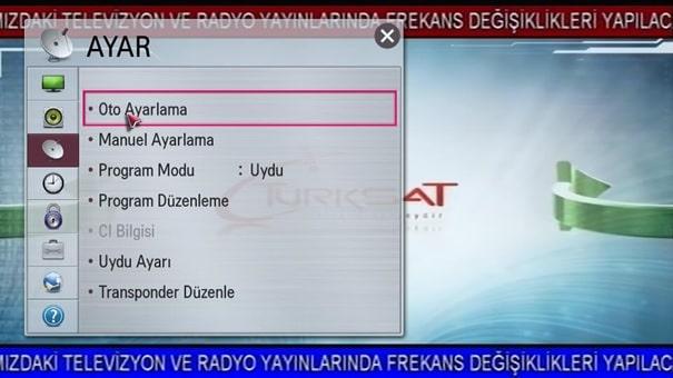 14 Türksat Televizyon Radyo Yayın Frekans Değişikliği