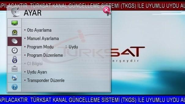 22 Türksat Televizyon Radyo Yayın Frekans Değişikliği