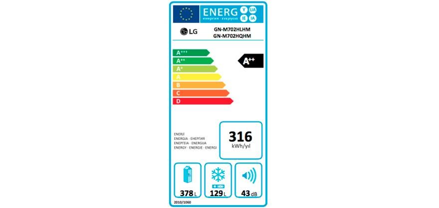 ENERJİ ETİKETİ - GN-M702HQHM