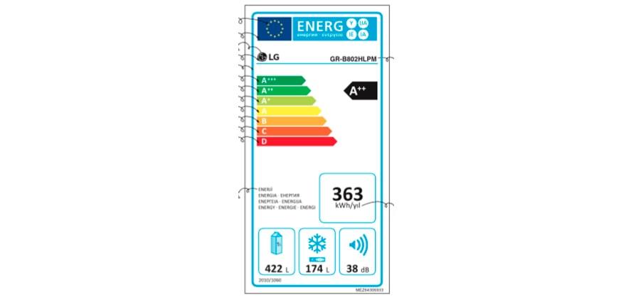 ENERJİ ETİKETİ - GR-B802HLPM