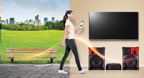 LG Range of Flow™ ile Otomatik Müzik Çalma