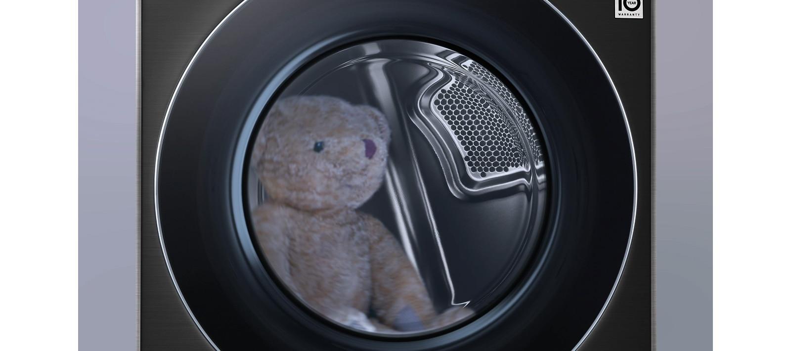 殺菌行程可減少泰迪熊玩偶上的99.9%細菌、塵螨等居家過敏原