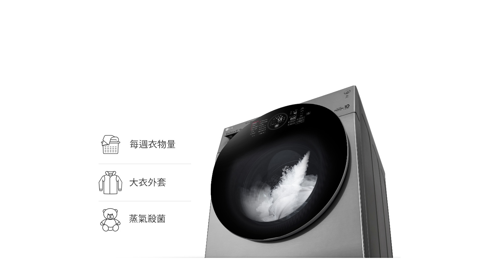 上置滾筒TrueSteam蒸氣洗衣1