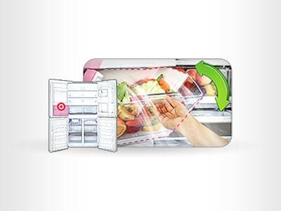 善用斜取式冷藏蔬果盒,讓蔬果更長時間保鮮!