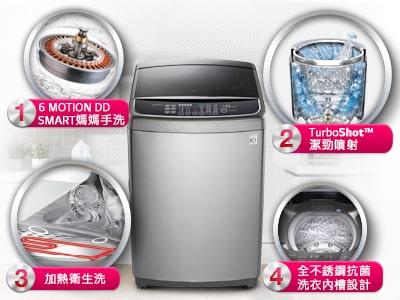 6motion dd直立式变频洗衣机 不锈钢银 / 15公斤洗衣容量