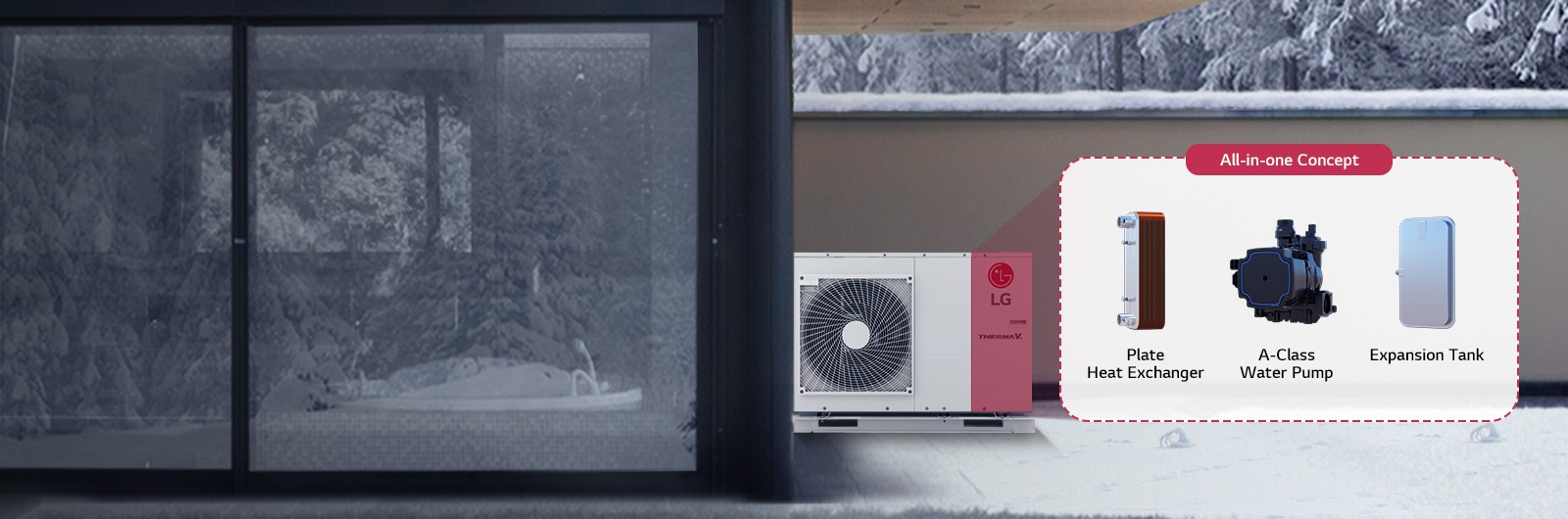 LG | Therma V R32 Monobloc | All in one heating