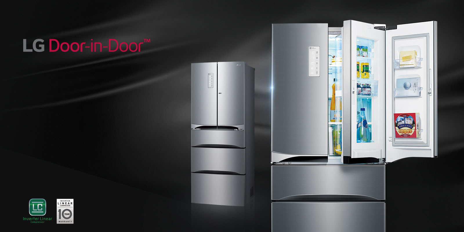 Double Door Fridge Freezers Multi Door Refrigerators Lg Uk