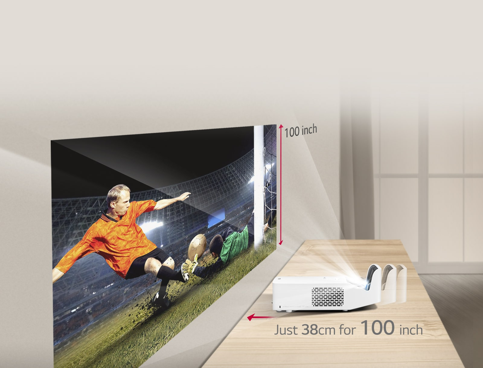 Only 38cm to Get 100 inch Big Picture1