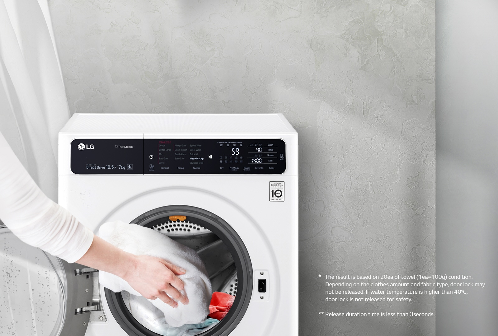 Biscuit colored washer and dryer - Pause Add Items