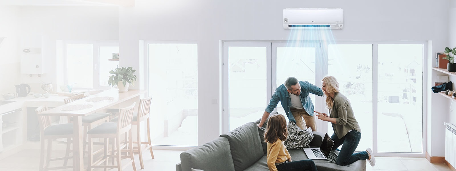 An image of a family having a good time in a living room