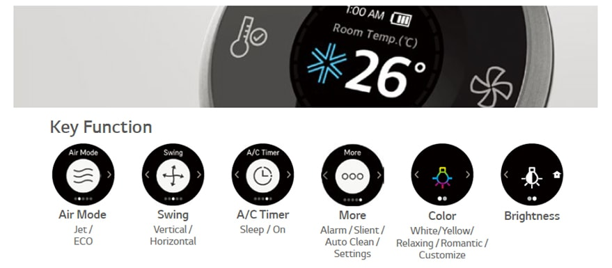 Lg G09wl Artcool Stylist Residential Air Conditioners