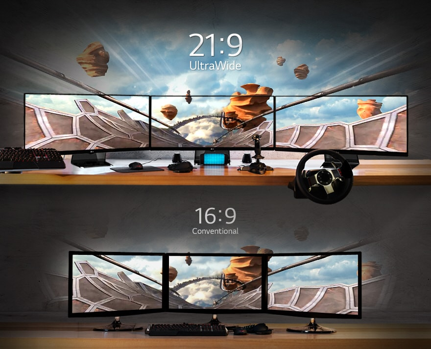 FEEL THE DIFFERENCE? THE 21:9 ULTRAWIDE FIELD OF VIEW.