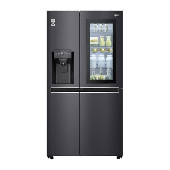 LG InstaView Door-in-Door™ GSX960MCCZ American style Fridge Freezer, 601L, Matte Black - F1