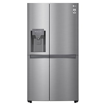 LG Smart Inverter Compressor GSL480PZXV American style Fridge Freezer, 601L,  Shiny Steel - F1