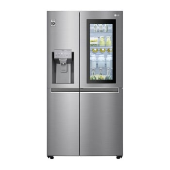 LG InstaView Door-in-Door™ GSI960PZVV American Style Fridge Freezer , 601L, Shiny Steel  - F1