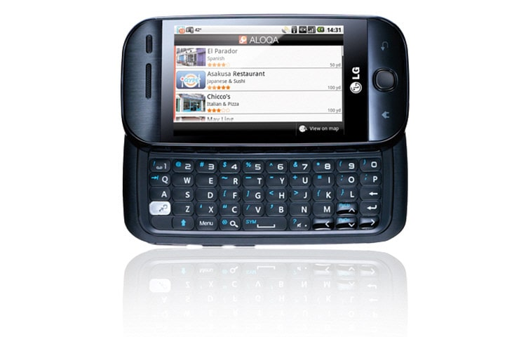 LG Mobile Phones The first Android phone, 5-line QWERTY keypad  thumbnail 3