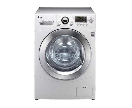 lg f1480yd washing machines 8kg 6kg capacity washer dryer white with direct drive and 6. Black Bedroom Furniture Sets. Home Design Ideas