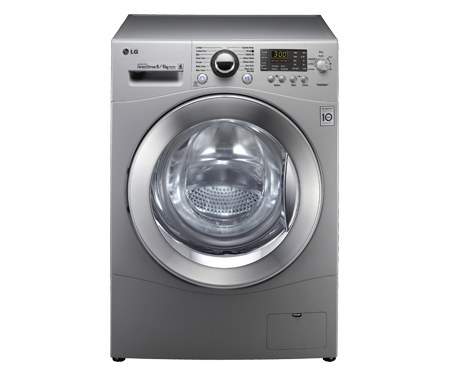 lg f1480yd5 washing machines 8kg 6kg capacity washer dryer black with direct drive and 6. Black Bedroom Furniture Sets. Home Design Ideas